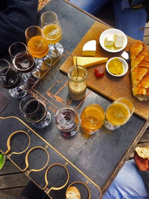 Bruny Island dégustation bières et fromages locaux