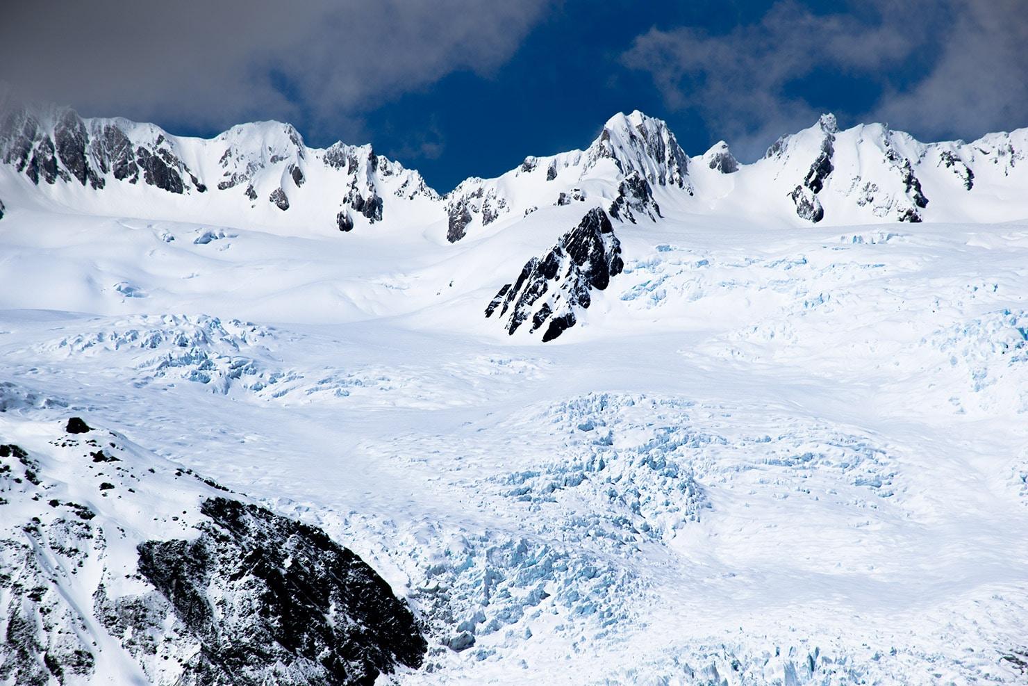 Glacier franz joseph en nouvelle-zélande