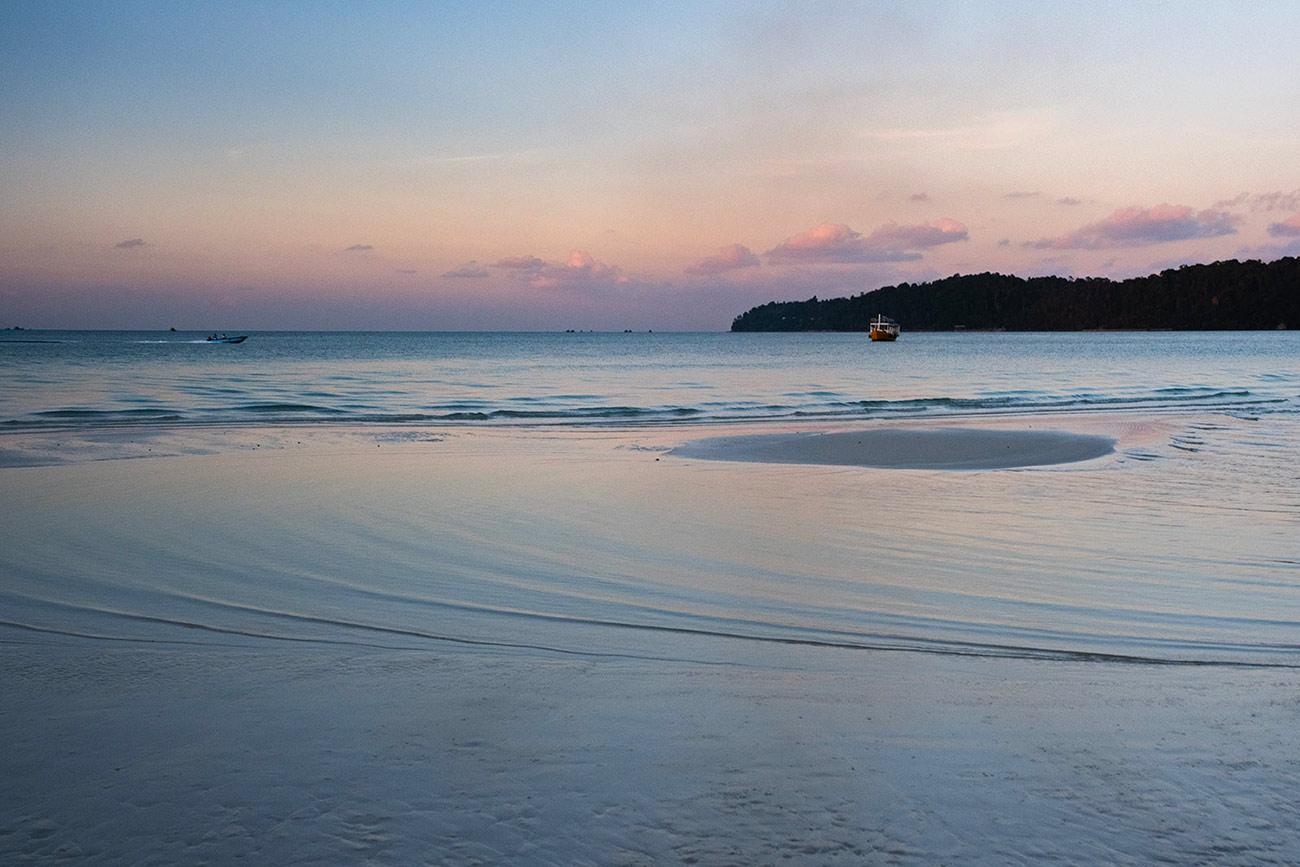 Plage paradisiaque de l'île de Koh Rong Samloem