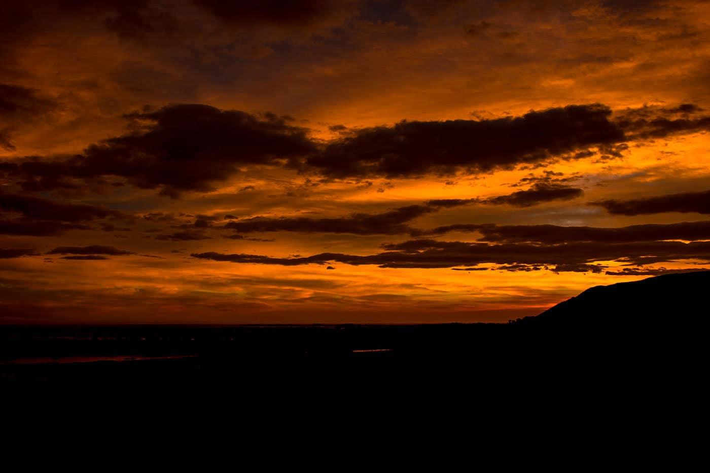 coucher de soleil péninsule de Kaikoura