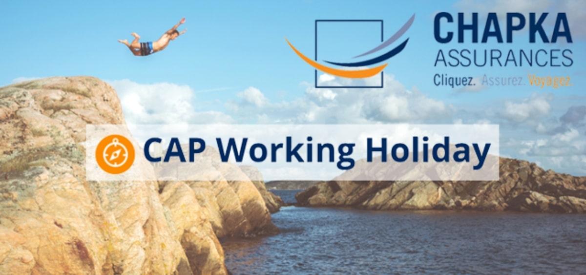 CAP Working Holiday assurance voyage Chapka affiliation globefreelancers