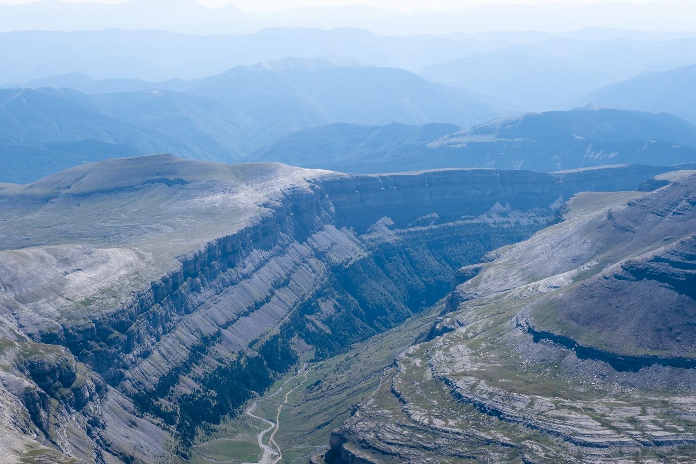canyon d'ordesa depuis le mont perdu