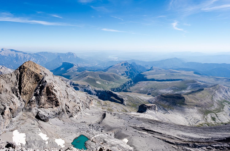 Canyon d'Anisclo depuis le sommet du mont perdu
