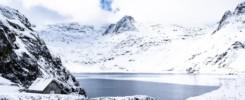 Lac Bleu de Lesponne enneigé